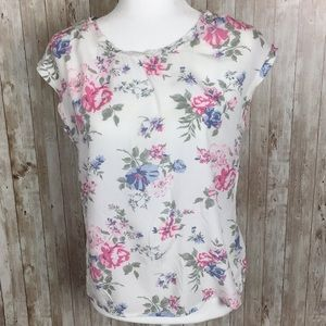 Abercrombie&Fitch Floral Short Sleeve Blouse